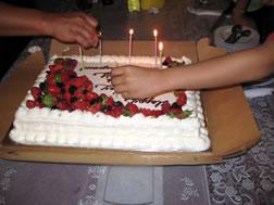 グアム バースディケーキ